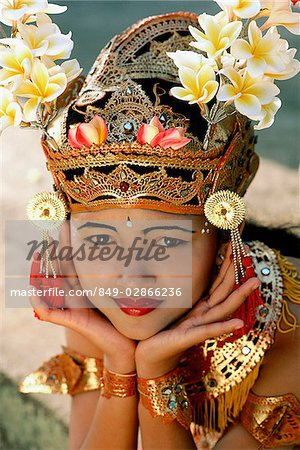 Indonesia, Bali, Young Balinese dancer in legong costume Stock Photo - Rights-Managed, Image code: 849-02866236