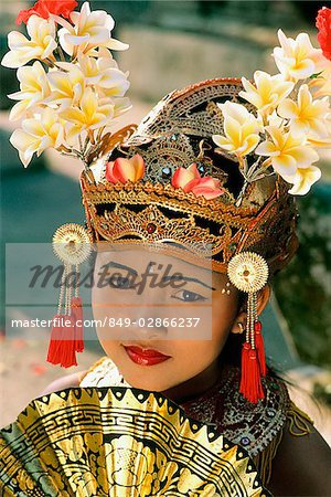 Indonesia, Bali, Young Balinese dancer in legong costume Stock Photo - Rights-Managed, Image code: 849-02866237