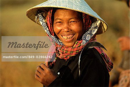 Cambodia, Local woman smiling, portrait Stock Photo - Rights-Managed, Image code: 849-02866262