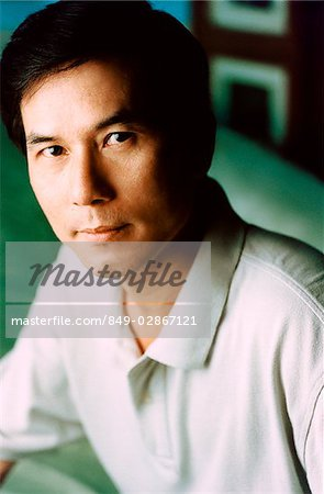 Man in polo shirt, portrait Stock Photo - Rights-Managed, Image code: 849-02867121