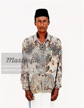 Indonesia, Bali, Ujung, Balinese Muslim at mosque during fasting month. Stock Photo - Rights-Managed, Image code: 849-02867617