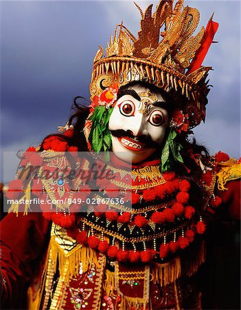 Indonesia, Bali, Ubud, Mask (Topeng) dancer performing. Stock Photo - Rights-Managed, Image code: 849-02867636
