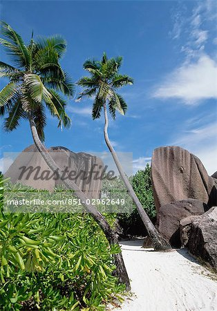 Source D'Argent,La Digue,Seychelles. Stock Photo - Rights-Managed, Image code: 851-02962649
