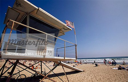 Lifegaurd Station,Venice Beach,Los Angeles,California,USA Stock Photo - Rights-Managed, Image code: 851-02964054