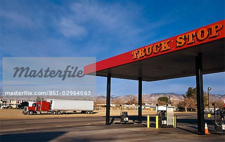 Truck stop (gas/ petrol station),Mojave,California,USA Stock Photo - Rights-Managed, Image code: 851-02964063