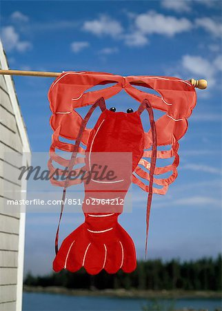 Lobster sign on Maine Coast,USA Stock Photo - Rights-Managed, Image code: 851-02964212