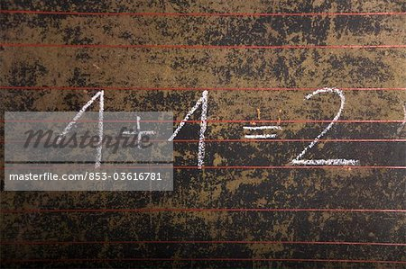 Equation on a black board Stock Photo - Rights-Managed, Image code: 853-03616781