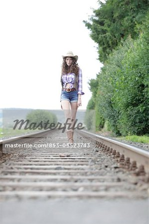 Young woman as cowgirl Stock Photo - Rights-Managed, Image code: 853-05523743