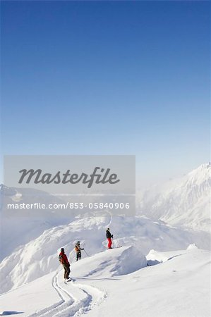 Skier and snowboarder Stock Photo - Rights-Managed, Image code: 853-05840906
