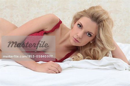 Young blond woman, portrait Stock Photo - Rights-Managed, Image code: 853-05840997
