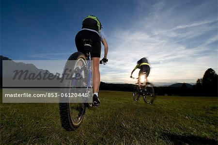 Two mountainbikers in the Dolomites, South Tyrol, Italy Stock Photo - Rights-Managed, Image code: 853-06120445
