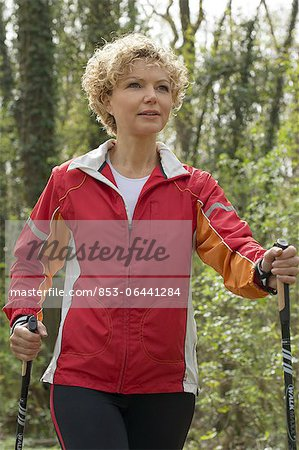 Mature woman doing workout Stock Photo - Rights-Managed, Image code: 853-06441284