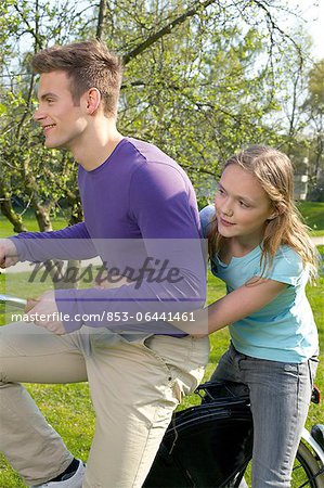 Young woman and girl Stock Photo - Rights-Managed, Image code: 853-06441461