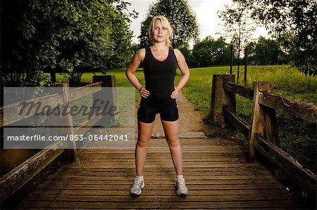 Young woman doing fitness training,Baden-Wuerttemberg, Germany Stock Photo - Rights-Managed, Image code: 853-06442041