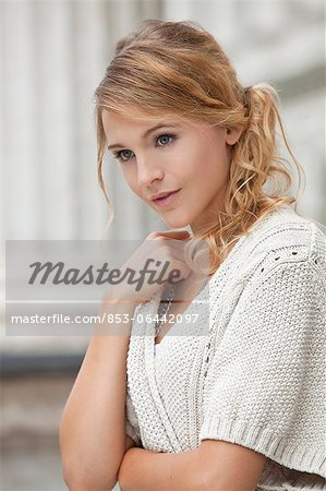 Young blond woman, portrait Stock Photo - Rights-Managed, Image code: 853-06442097