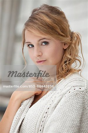 Young blond woman, portrait Stock Photo - Rights-Managed, Image code: 853-06442098