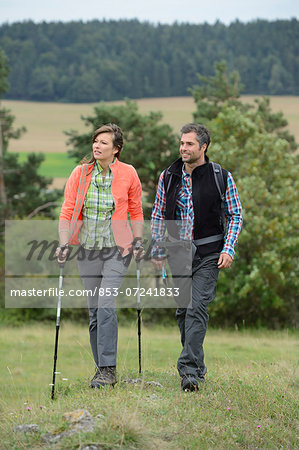 Couple on a hiking tour Stock Photo - Rights-Managed, Image code: 853-07241833