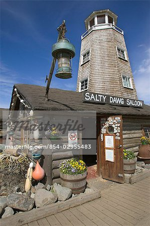 The Salty Dawg Saloon in Homer KP Alaska Summer Stock Photo - Rights-Managed, Image code: 854-02955483