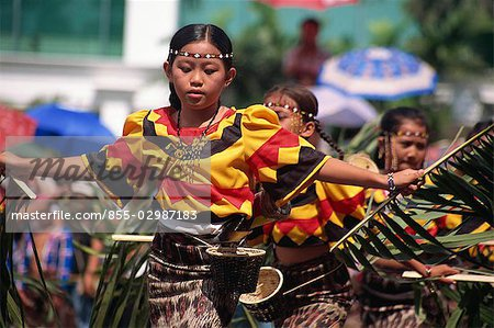 Kadayawan Festival Dancers Stock Photo - Rights-Managed, Image code: 855-02987183