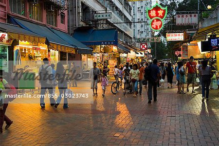 Streetscape in Yuen Long,New Territories,Hong Kong Stock Photo - Rights-Managed, Image code: 855-03023743