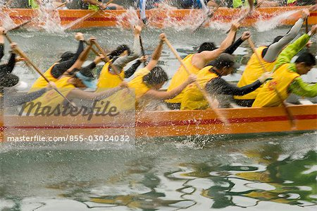 Dragon boat race at Shaukeiwan,Hong Kong Stock Photo - Rights-Managed, Image code: 855-03024032
