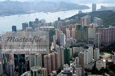 Aerial view over North Point,Hong Kong Stock Photo - Rights-Managed, Image code: 855-03026670