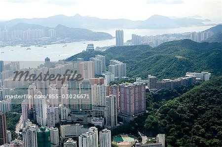 Aerial view over North Point,Hong Kong Stock Photo - Rights-Managed, Image code: 855-03026671