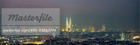 Cityscape at night, Kuala Lumpur, Malaysia