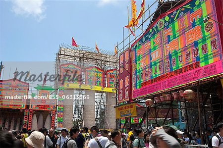 Bun towers for the Bun Festival, Cheung Chau, Hong Kong Stock Photo - Rights-Managed, Image code: 855-06313369