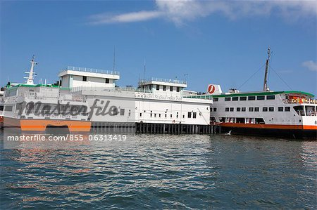 Ferry pier, Cheung Chau, Hong Kong Stock Photo - Rights-Managed, Image code: 855-06313419