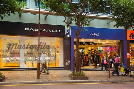 Boutiques on Hankow Road, Tsimshatsui, Kowloon, Hong Kong Stock Photo - Rights-Managed, Image code: 855-06339017