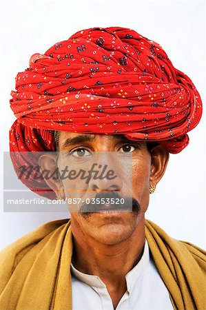 Portrait of a man wearing turban Stock Photo - Rights-Managed, Image code: 857-03553520