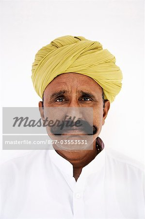 Portrait of a man wearing turban Stock Photo - Rights-Managed, Image code: 857-03553531