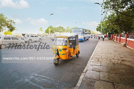 Traffic on the road, Chennai, Tamil Nadu, India Stock Photo - Rights-Managed, Image code: 857-06721699