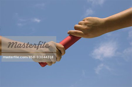Relaying a Baton Stock Photo - Rights-Managed, Image code: 858-03044318