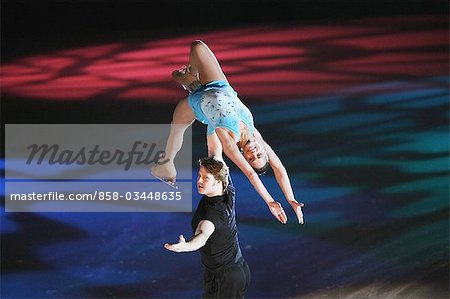 Figure Skaters doing Lifting Stock Photo - Rights-Managed, Image code: 858-03448635