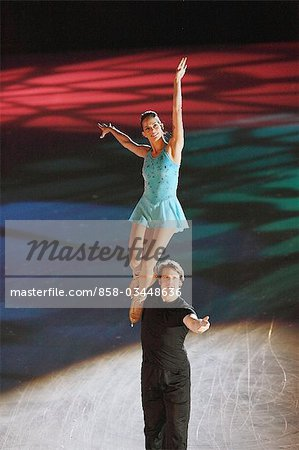 Figure Skaters doing Lifting Stock Photo - Rights-Managed, Image code: 858-03448636