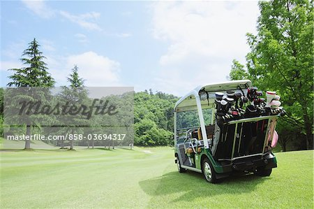 Golf Cart On Golf Course Stock Photo - Rights-Managed, Image code: 858-03694317