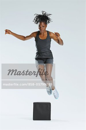 Woman Jumping Stock Photo - Rights-Managed, Image code: 858-05799280