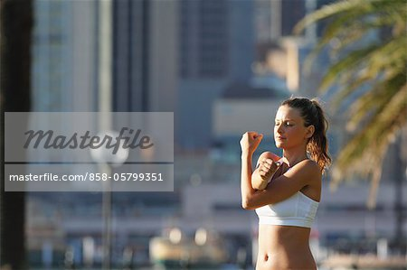 Young Woman Exercising Stock Photo - Rights-Managed, Image code: 858-05799351