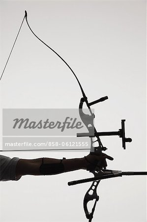 Human Hand With Archery Equipment Stock Photo - Rights-Managed, Image code: 858-06121555