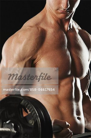 Man Working Out Stock Photo - Rights-Managed, Image code: 858-06617654