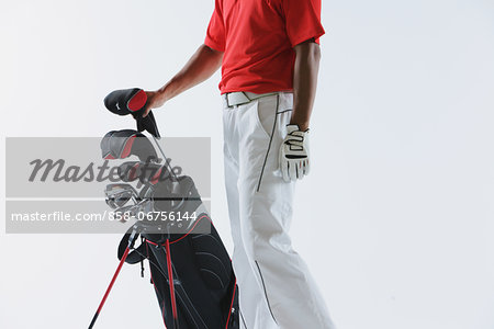 Golfer with Golf-Club Bag,  Low-Section Stock Photo - Rights-Managed, Image code: 858-06756144