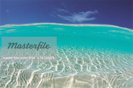 Clear Blue Tropical Water Stock Photo - Rights-Managed, Image code: 859-03036506