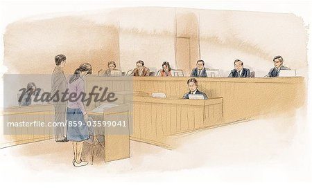 Court Of Law Stock Photo - Rights-Managed, Image code: 859-03599041