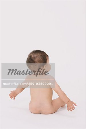 Sitting Baby Stock Photo - Rights-Managed, Image code: 859-03600201