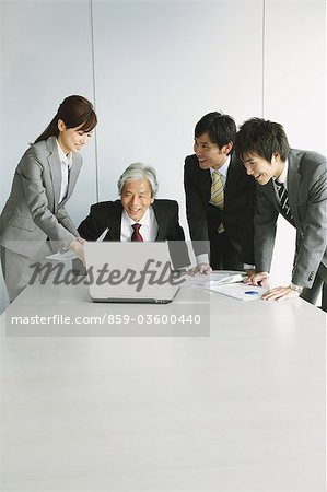 Business Colleagues In A Meeting Stock Photo - Rights-Managed, Image code: 859-03600440