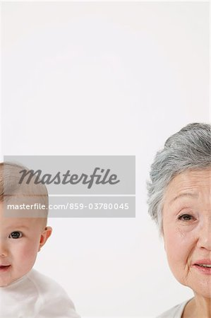 Senior Woman And Baby Stock Photo - Rights-Managed, Image code: 859-03780045