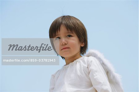 Boy Dressed-up as an Angel Stock Photo - Rights-Managed, Image code: 859-03781943