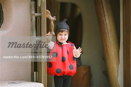Smiling Boy Dressed as Ladybug Stock Photo - Rights-Managed, Image code: 859-03781957